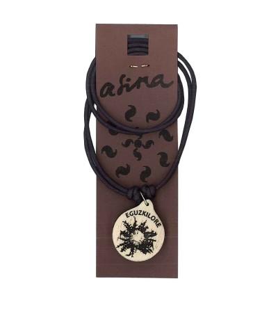 Colgante con grabado de eguzkilore o flor del sol