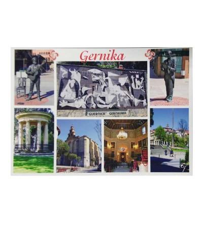 Postal de Gernika-Lumo con 7 imágenes típicas