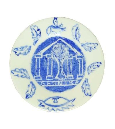 Plato de cerámica redondo...